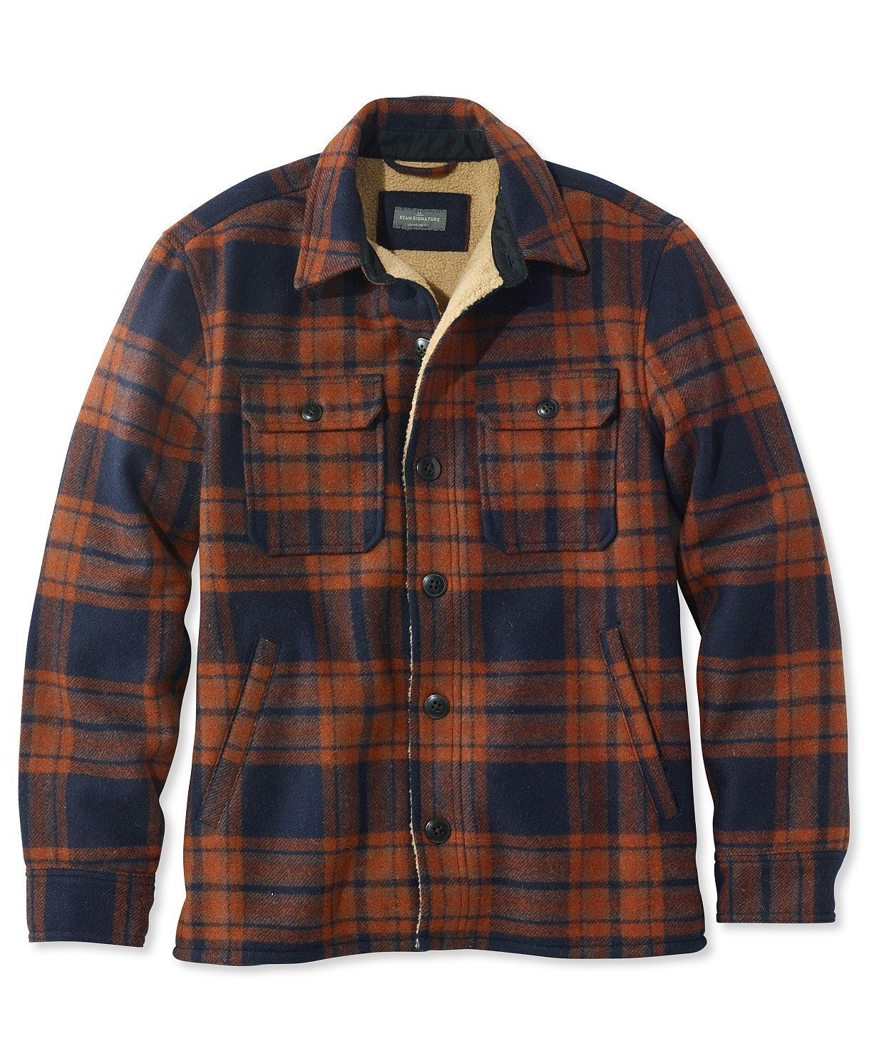 Flannel jacket with wool lining  Signature Lined WoolBlend Shirt Jacket  Fashion  Pinterest