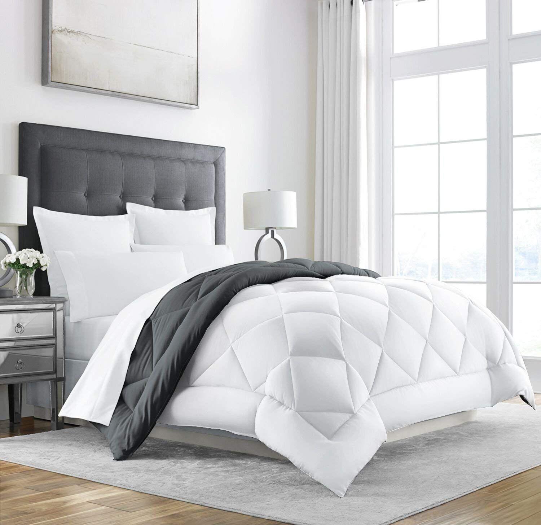 Sleep Restoration Goose Down Alternative Comforter Reversible Best Bedding Sets Down Comforter Cool Comforters