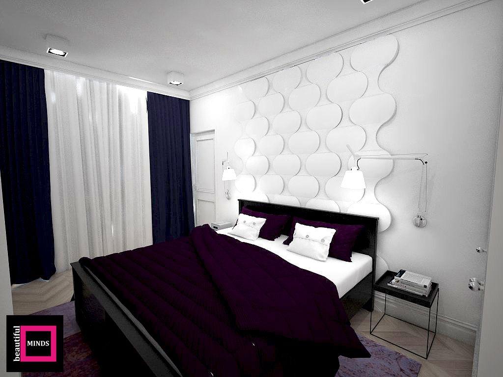 Sypialnia Z Wykorzystaniem Miękkich Paneli ściennych 3d