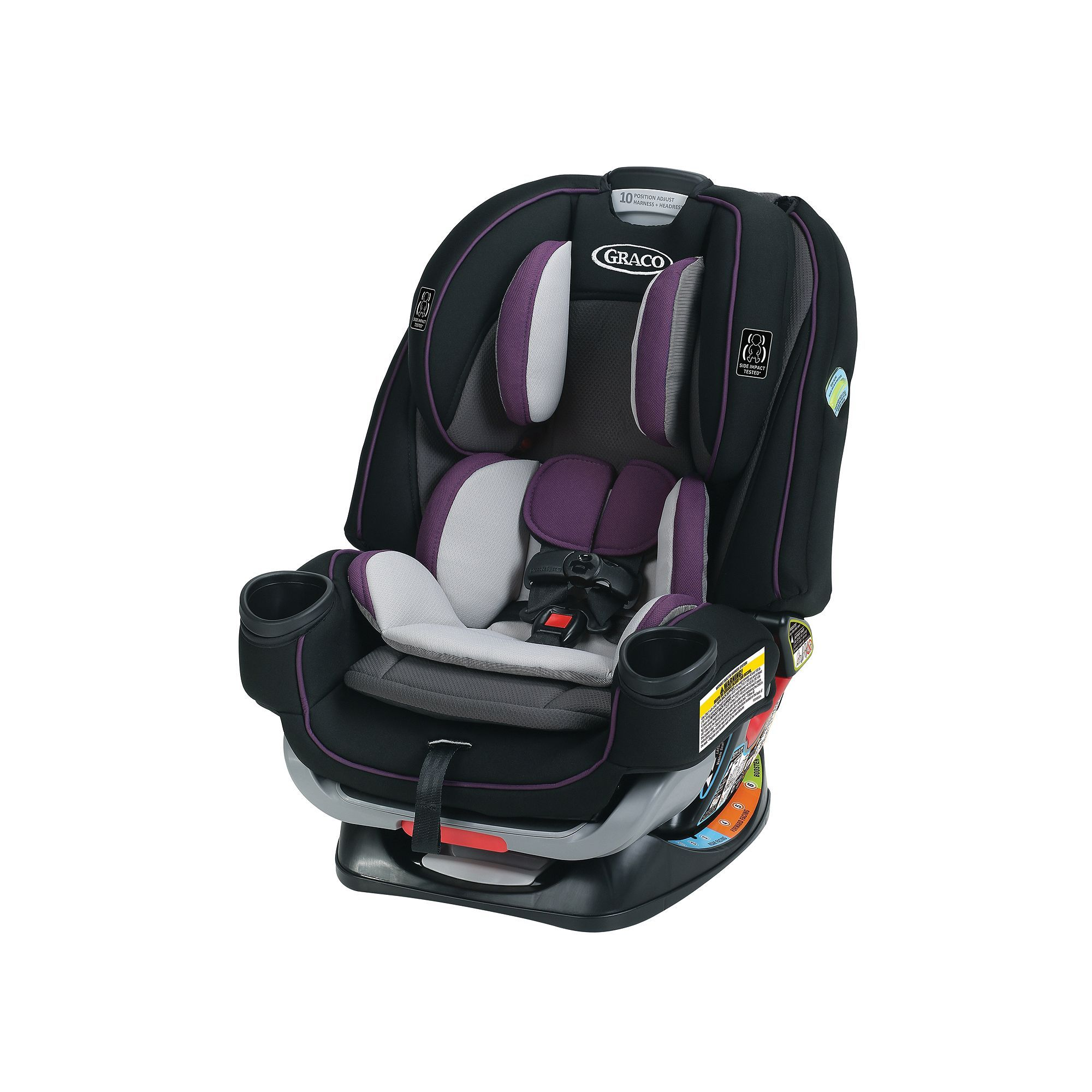 Graco 4Ever Extend2Fit All In One Convertible Car Seat Purple