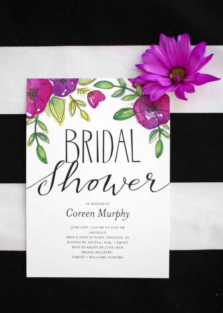 free bridal shower advice card template%0A Garden Party Bridal Shower Invitations   Kristi Murphy for Shutterfly