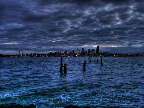 Puget Sound And Seattle From Alki Beach Puget Sound Seattle