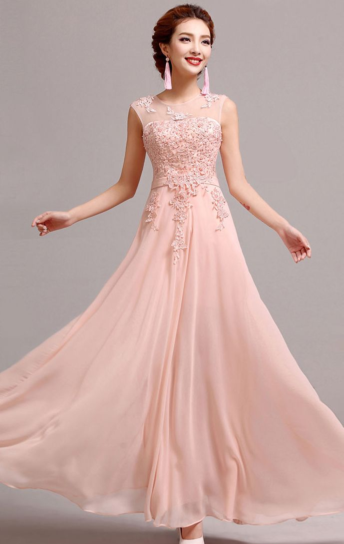 Pink colour dress gorgeous pink gowns pinterest pink for Peach dresses for wedding