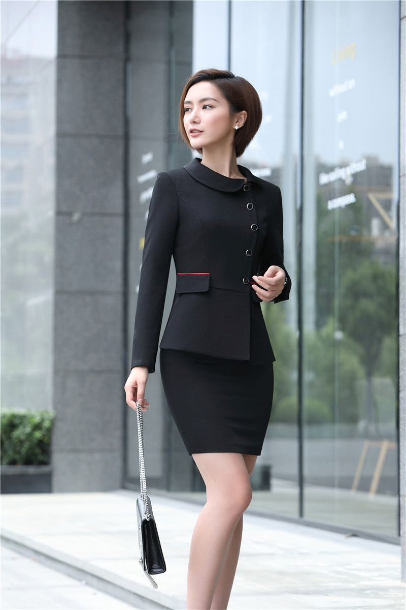 Office Uniform Designs For Women Skirt Suits With Blazer And Jacket Sets Ladies Business Suits Work Womens Skirt Suits Womens Dress Suits Work Suits For Women [ 1200 x 800 Pixel ]