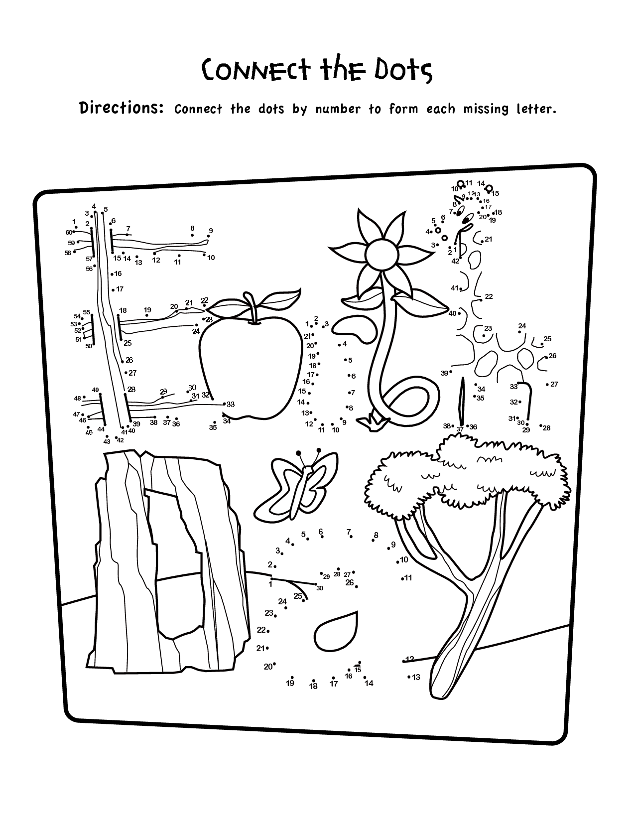 1st Grade Connect The Dots Worksheets