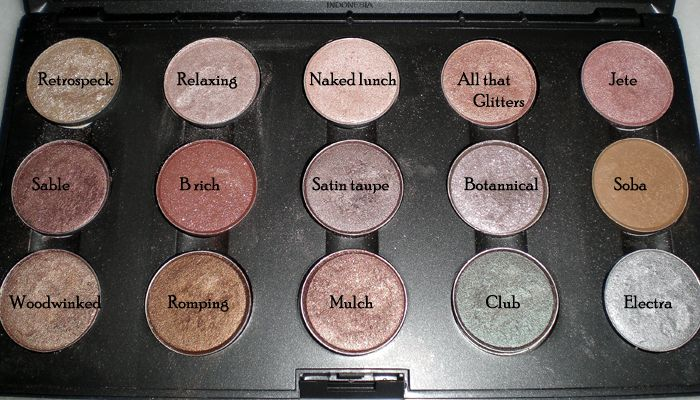 MAC Mid-Brown Neutral Eyeshadow Collection Palette - older shades, some d/c #makeup #MAC #eyeshadow