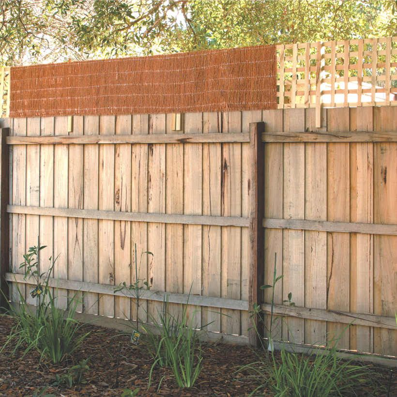 Garden Trend 0 5 X 2 4m Brushwood Fence Extension Bunnings