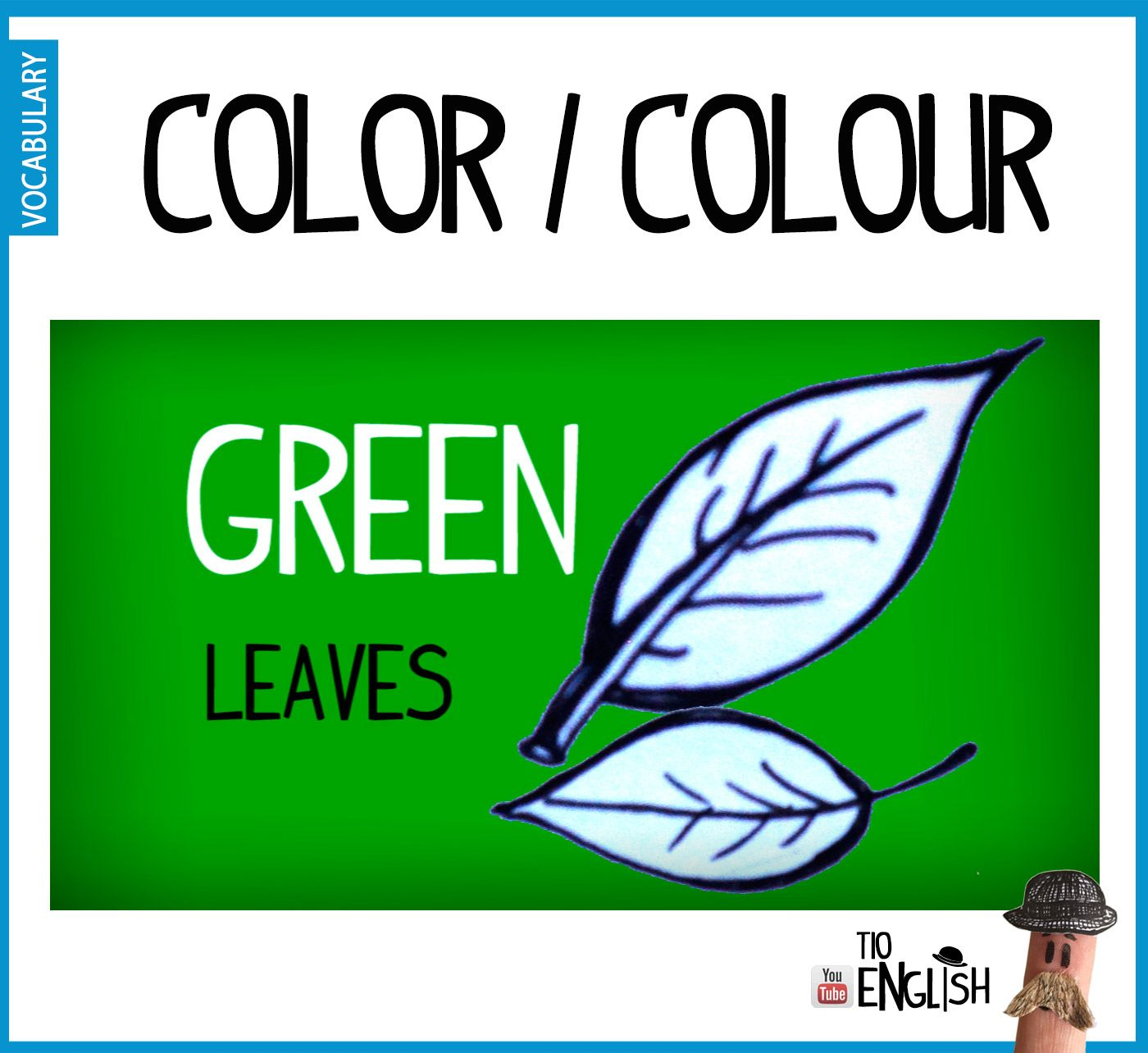 Green, English colours. Initial English vocabulary | Colors in ...