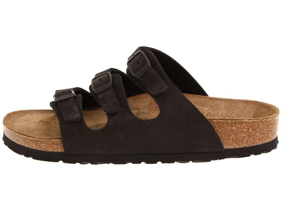 Birkenstock florida soft footbed nubuck sandals black