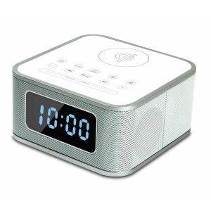 1a40feb815b Bluetooth alarm clock speaker with Qi wireless charging