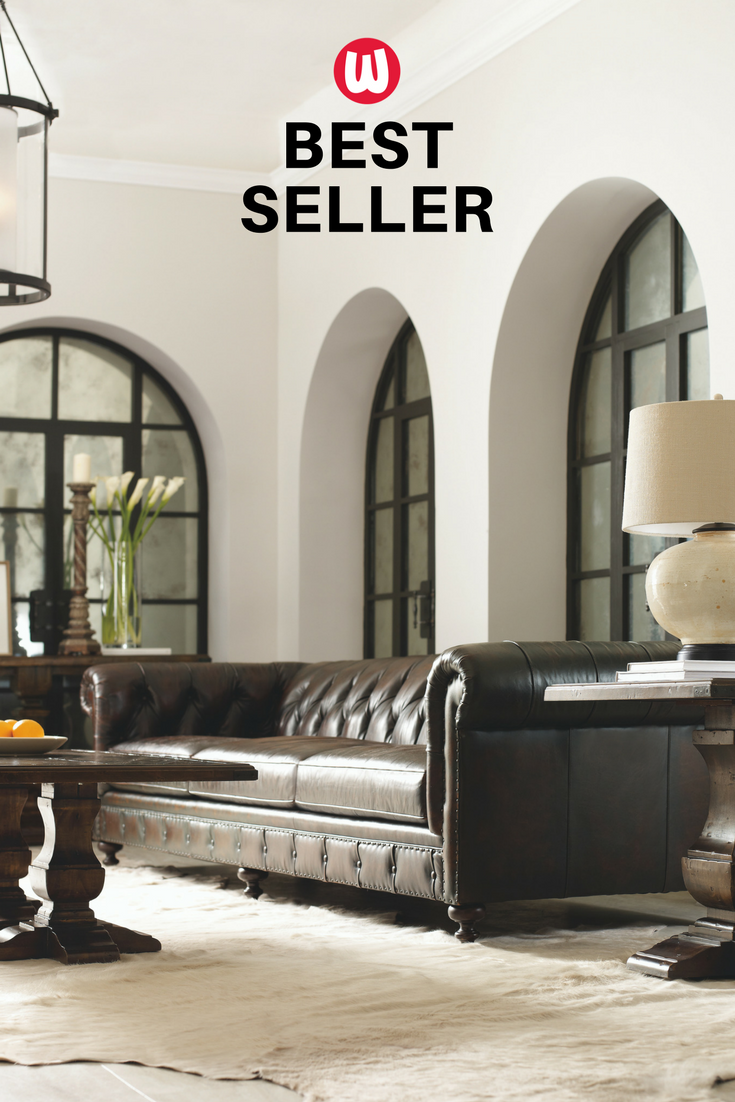 The Wellington Sofa In Tobacco Hued Leather Is A Traditional  ~ Wellington Leather Sofa
