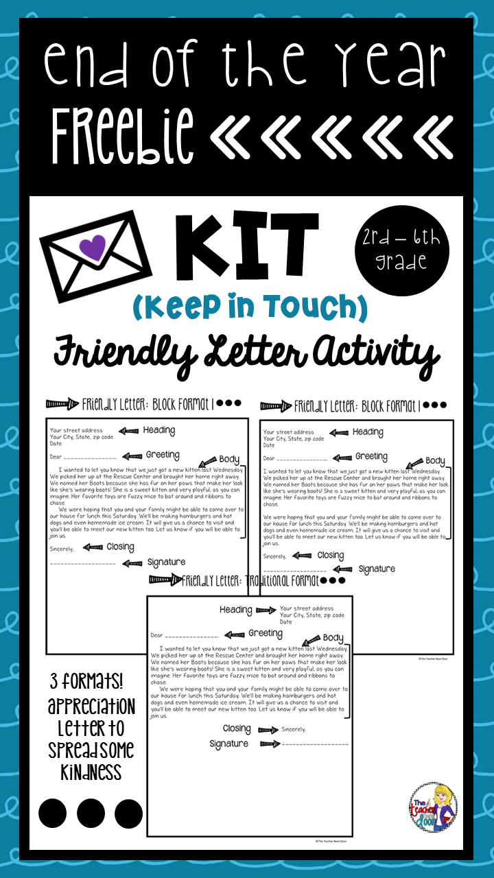 This End Of The Year Kit Keep In Touch Letter Writing Activity Is