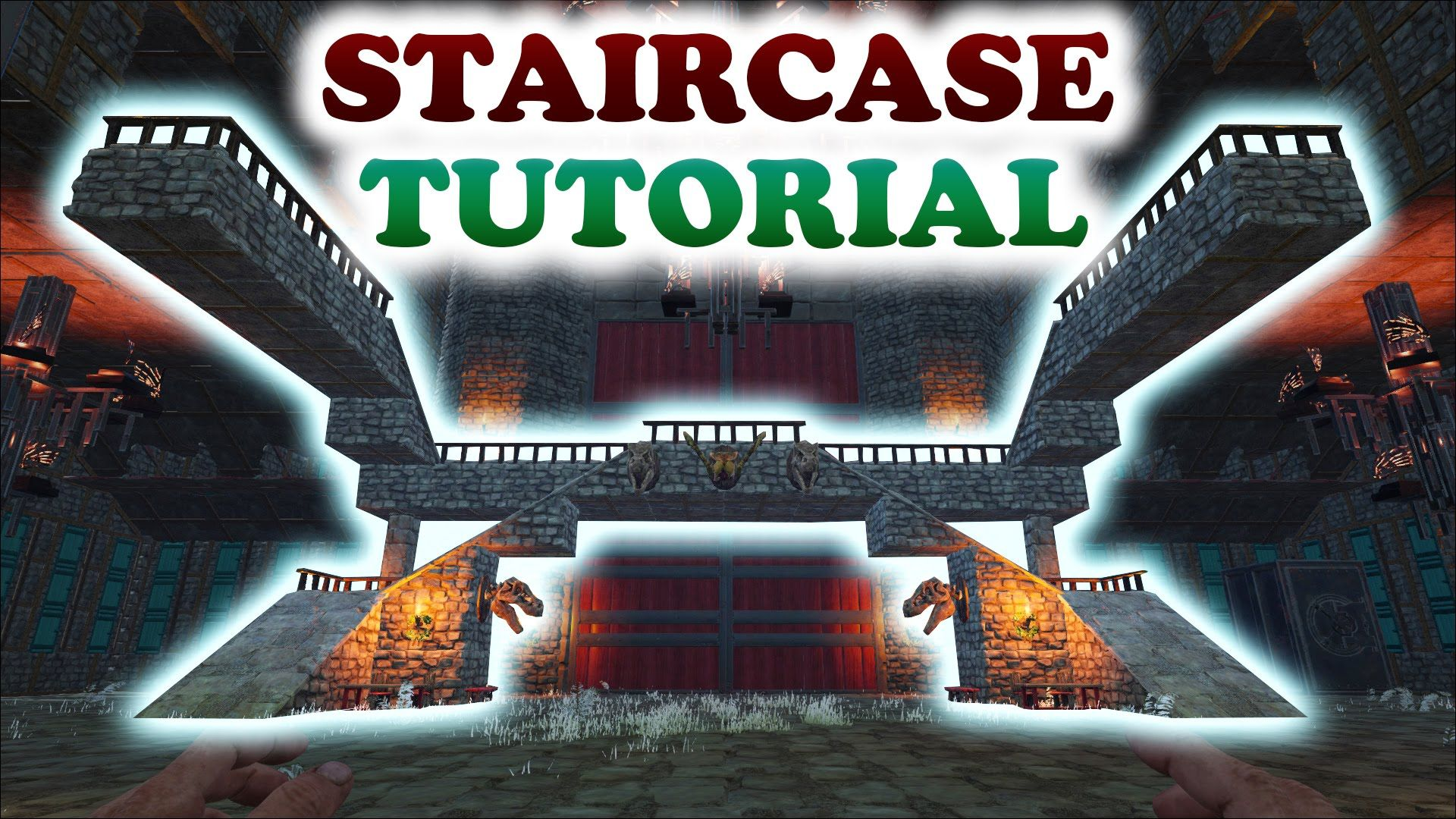 ARK | STAIRCASE TURORIAL | Building Tips and Tricks | Ark