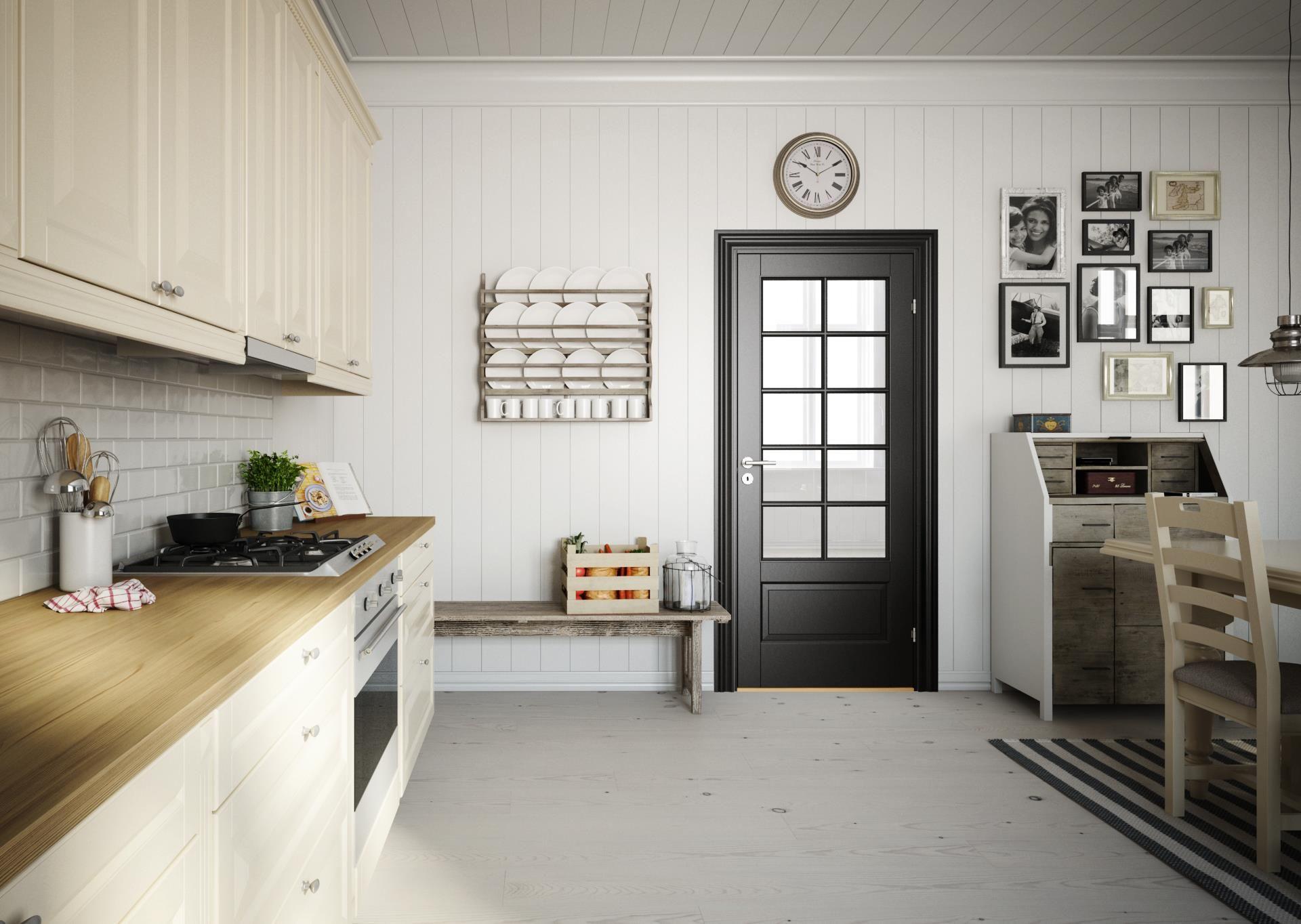 Klassisk svart innerdør Craft fra Swedoor   Svarte innerdører ...