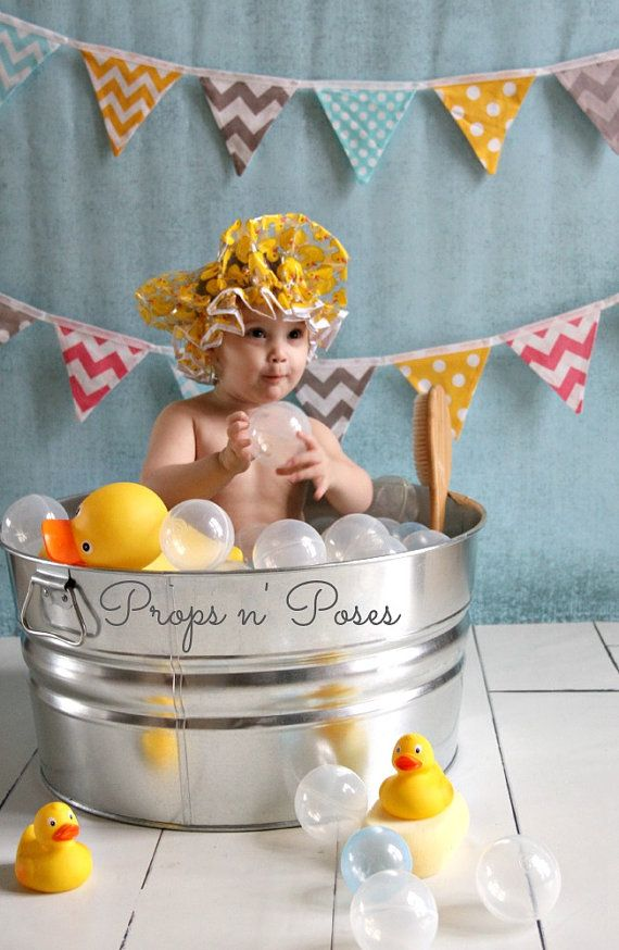 Metal Bubble Bath Tub Photography Prop - Baby/Child Bath Photo Prop ...