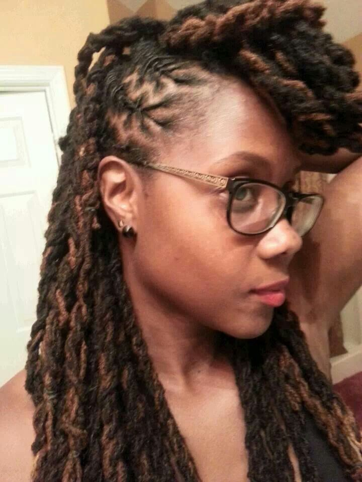 braided loc style #naruralhair   { Natural Hair Styles (But Mostly ...
