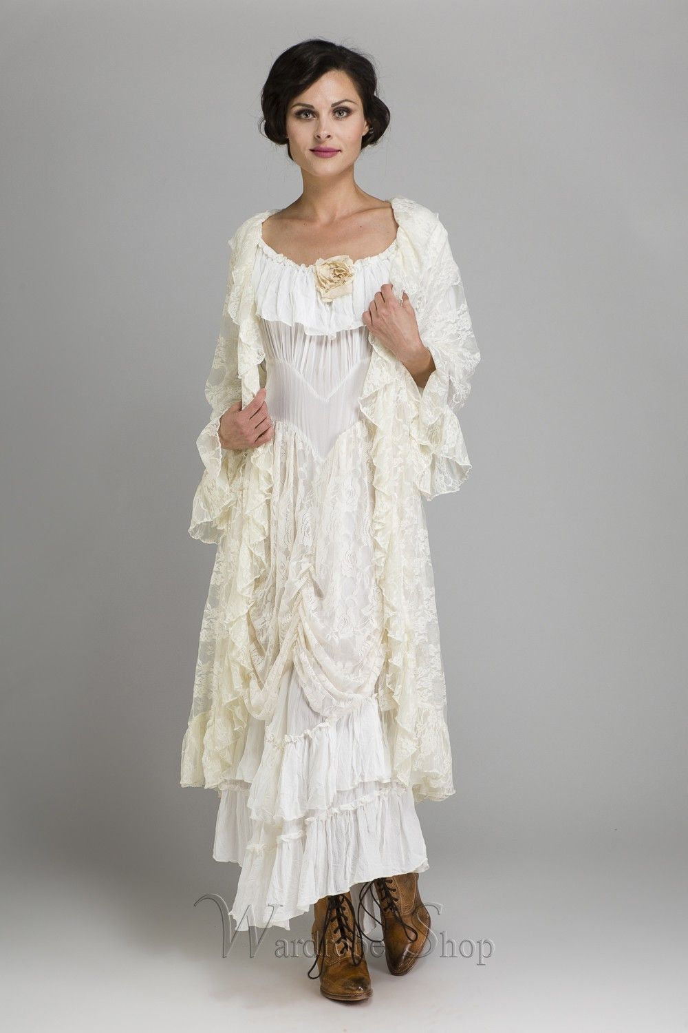 Cowgirl ruffled western wedding dress by marrika nakk pinterest
