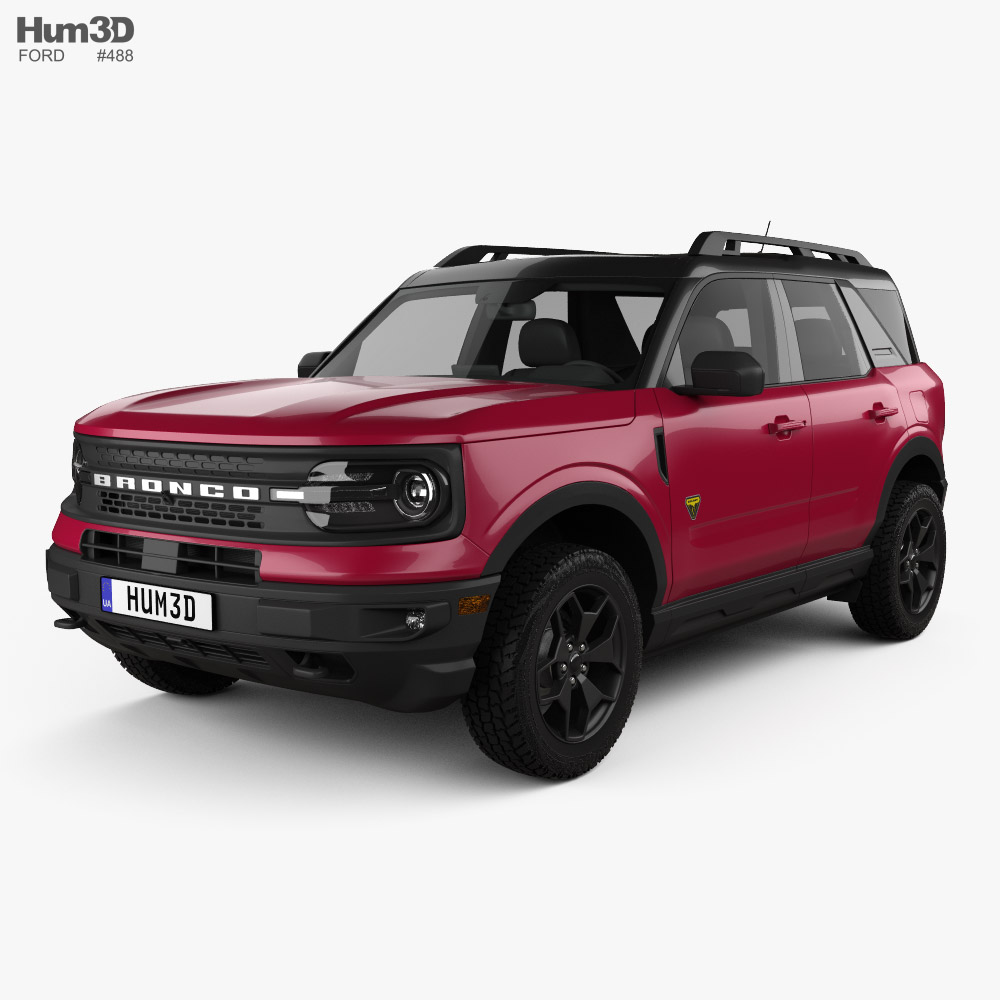 3D model of Ford Bronco Sport 2021 in 2020 Bronco sports