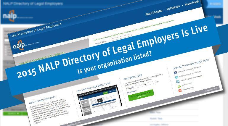 nalp national association lists organization law placement student