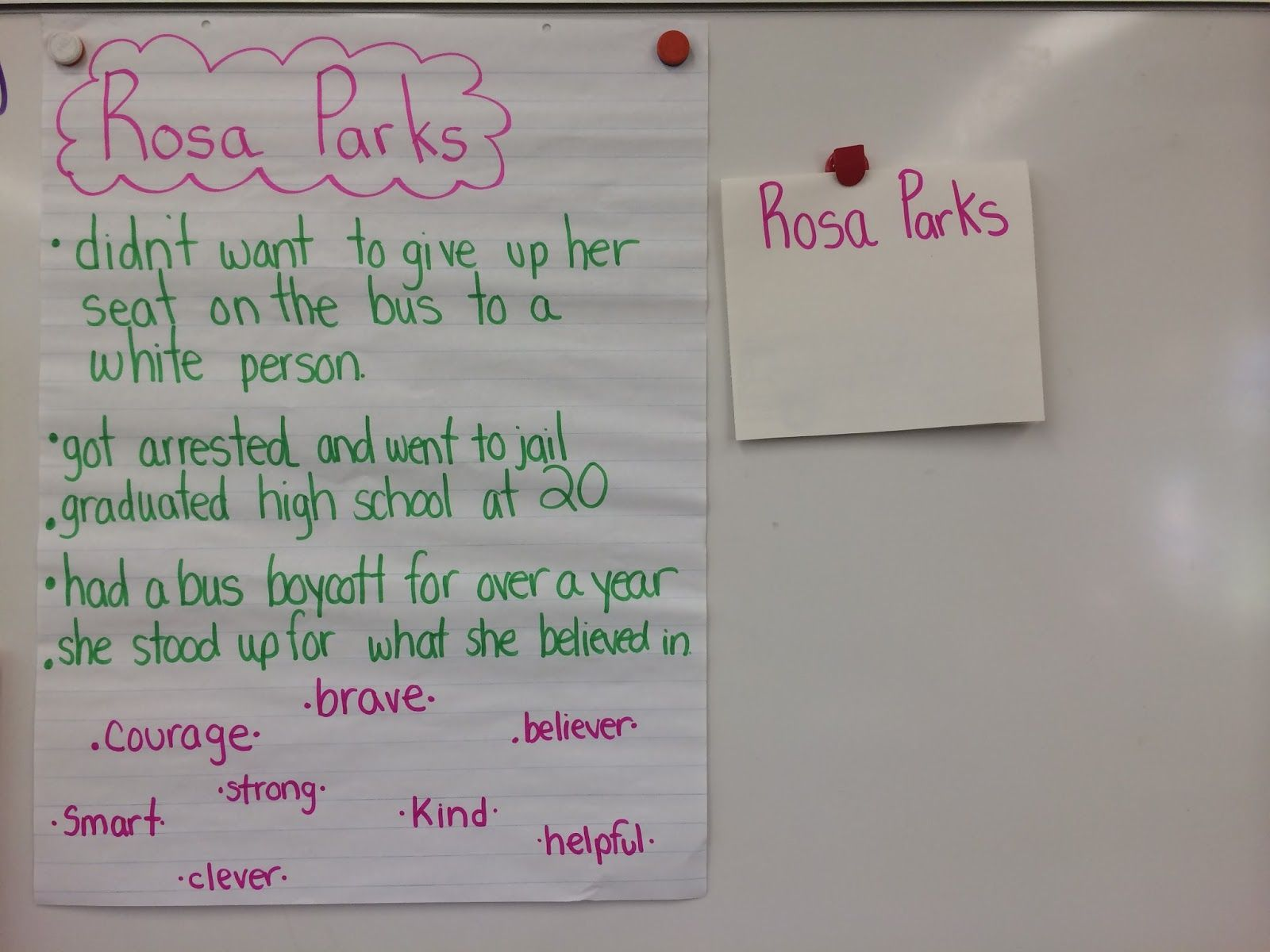 Mlk Update And A Rosa Parks Activity