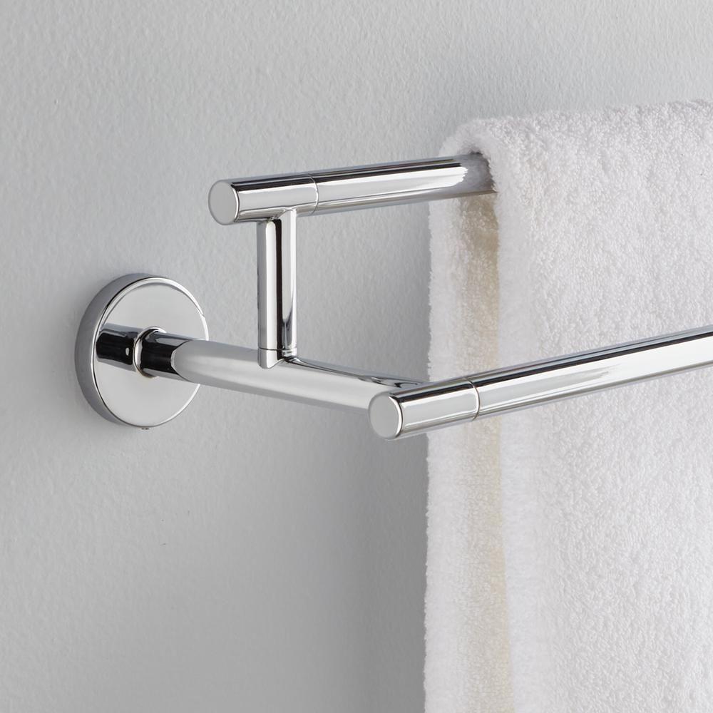 Home Depot Bathroom Towel Racks.Delta Trinsic 24 In Double Towel Bar In Chrome Grey In