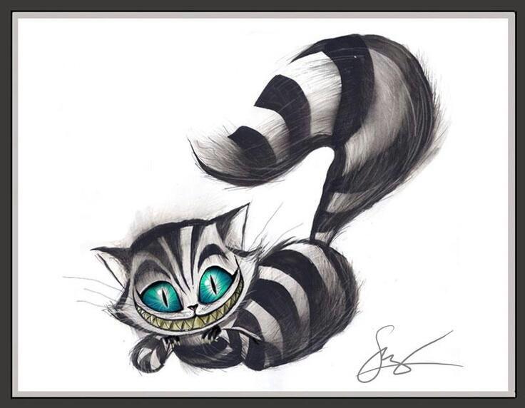 Cheshire Cat | Disegni | Pinterest | Gato sonriente, Gato de ...