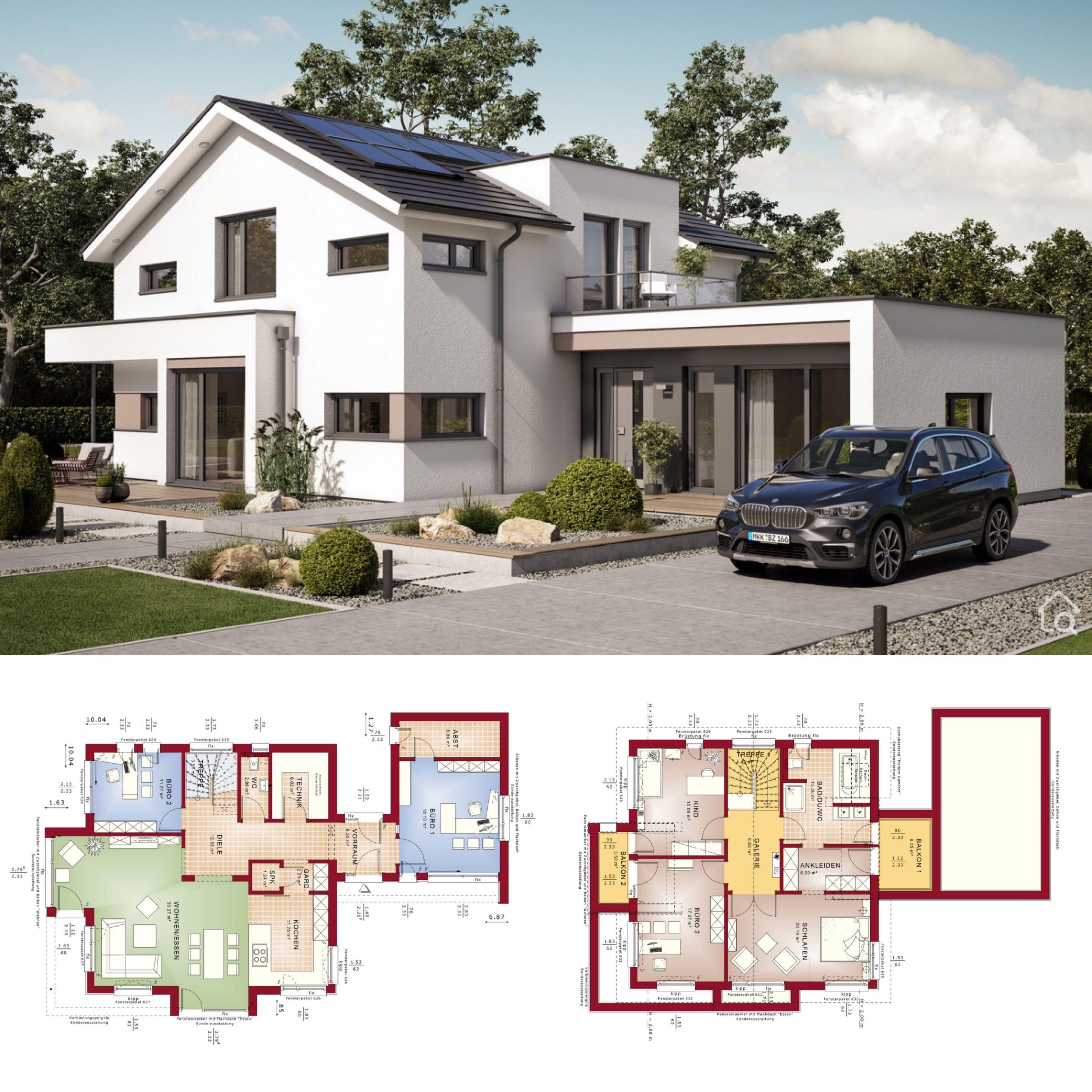 Einfamilienhaus Neubau modern mit Satteldach & 5 Zimmer