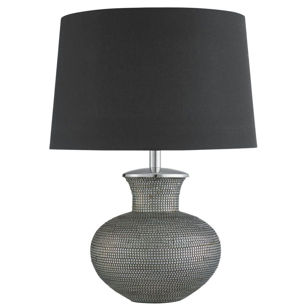pewter bedside table lamps
