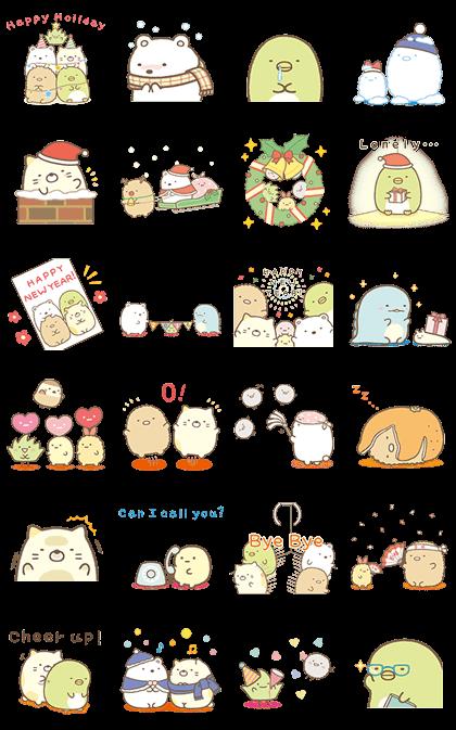 Sumikko Gurashi Winter Edition Cute Animal Drawings Kawaii Cute Kawaii Drawings Cute Stickers