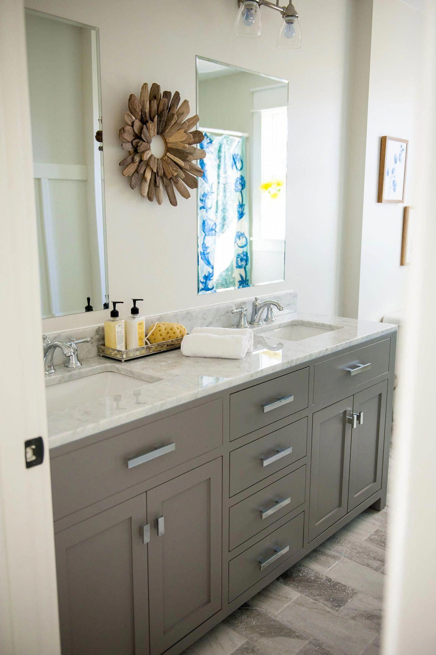 Gray Bathroom Vanity Find Out Where To Buy This Exact Vanity Online Click To See Our Bathroom Vanity Double Vanity Bathroom Grey Bathroom Vanity Sink Remodel