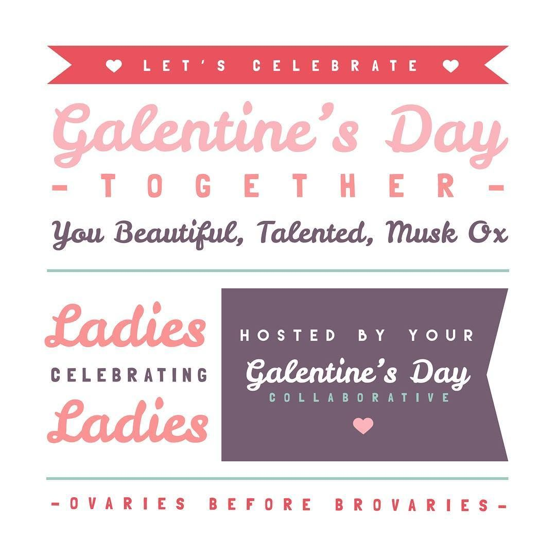 Galentine S Day Party Invitation You Beautiful Talented Musk Ox Ladies Celebrating Ladies Galentinesday Ovariesbeforebr Galentines Day Party Invitations
