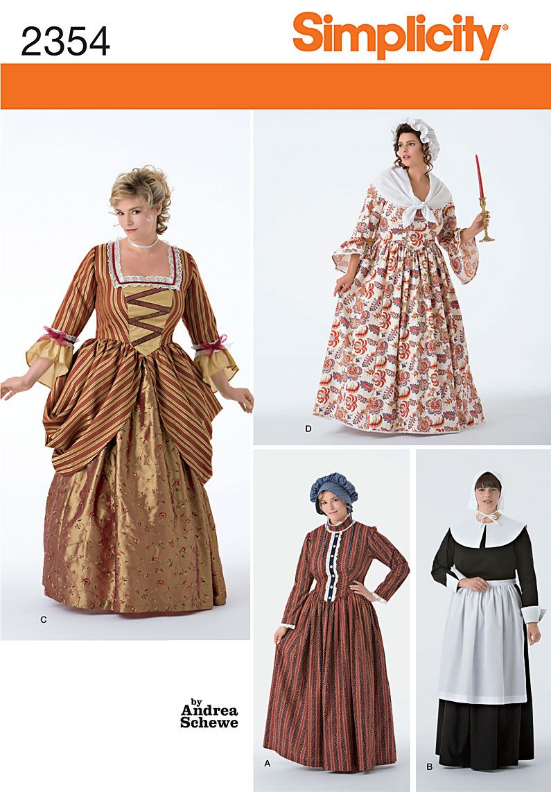 Woman\'s Puritan, 18th Century, and Frontier Costumes | Sociedad de ...