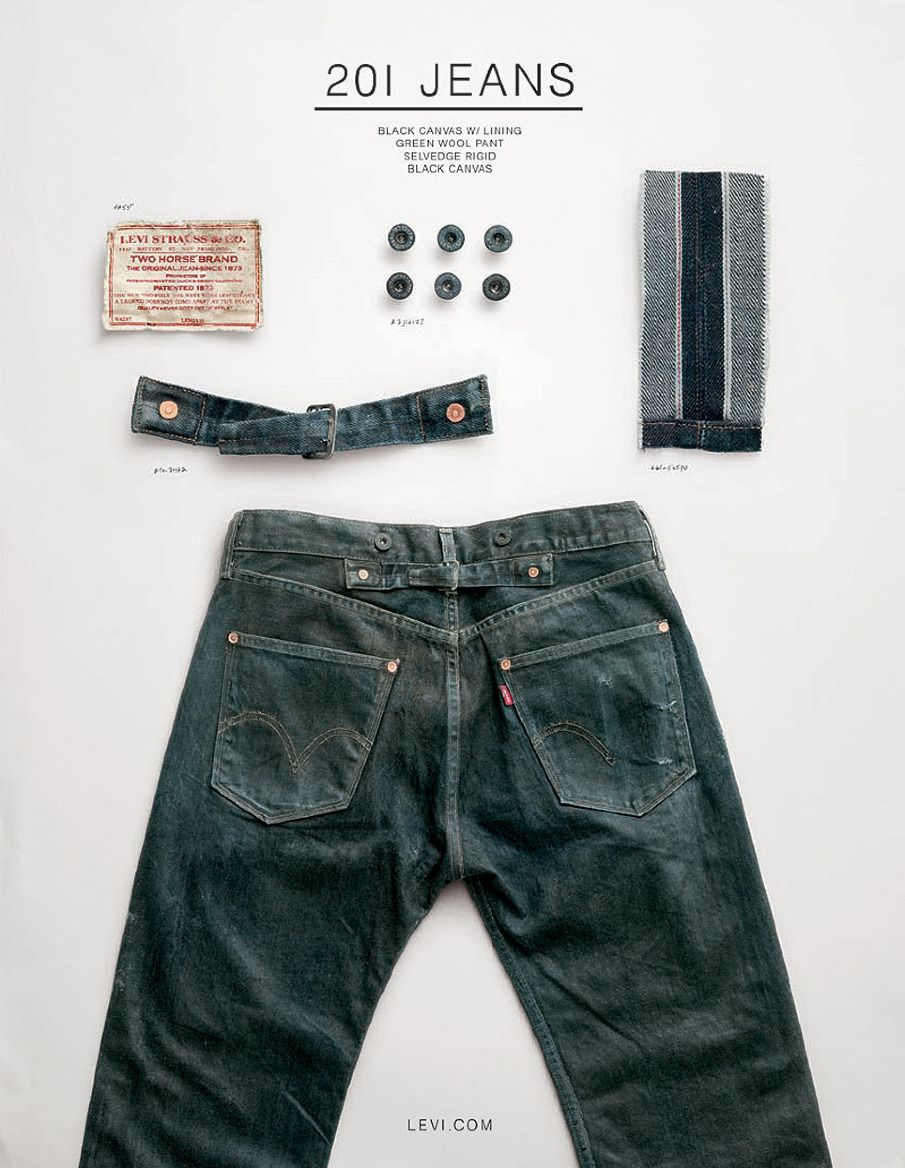 Levi S Go Forth Workwear Product Ads 201 Jeans Print Ad