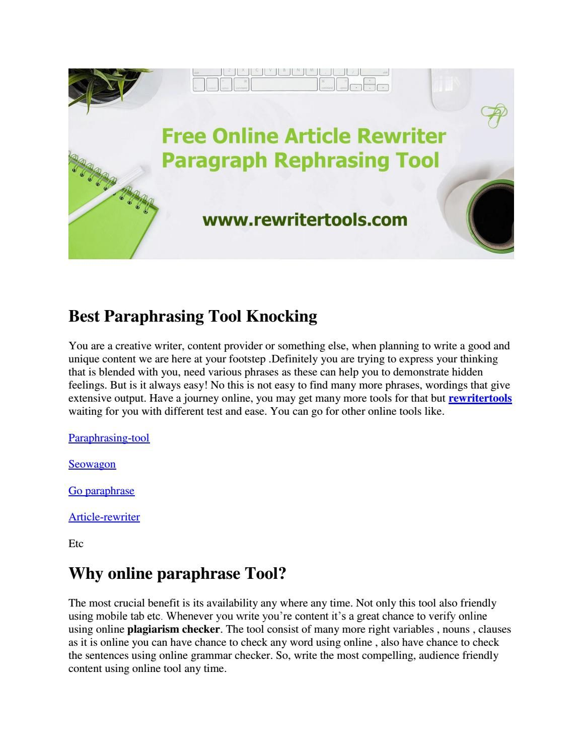 Online SEO Tools Article rewriter, article spinner, word