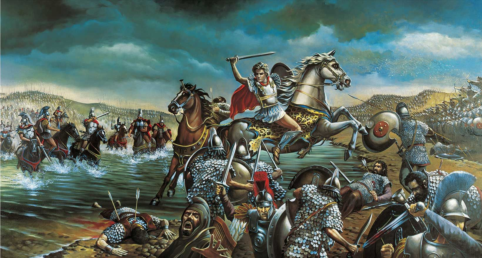 Alexander the great at the battle of granicus river ancient war alexander the great at the battle of granicus river kristyandbryce Choice Image