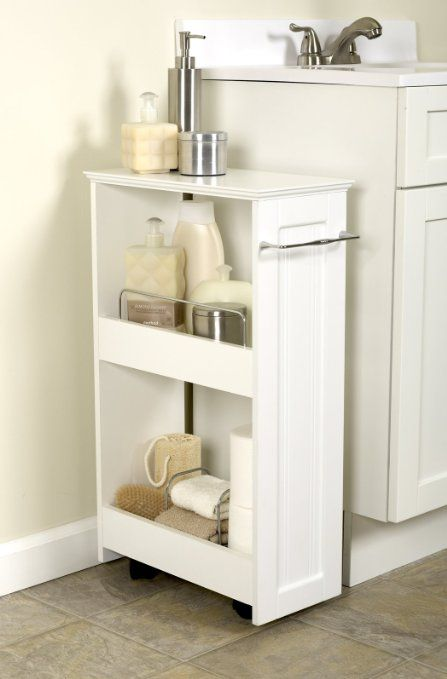 Amazon.com   Zenith Products 9227WWBB Slimline Rolling Storage Shelf    Could We Build This