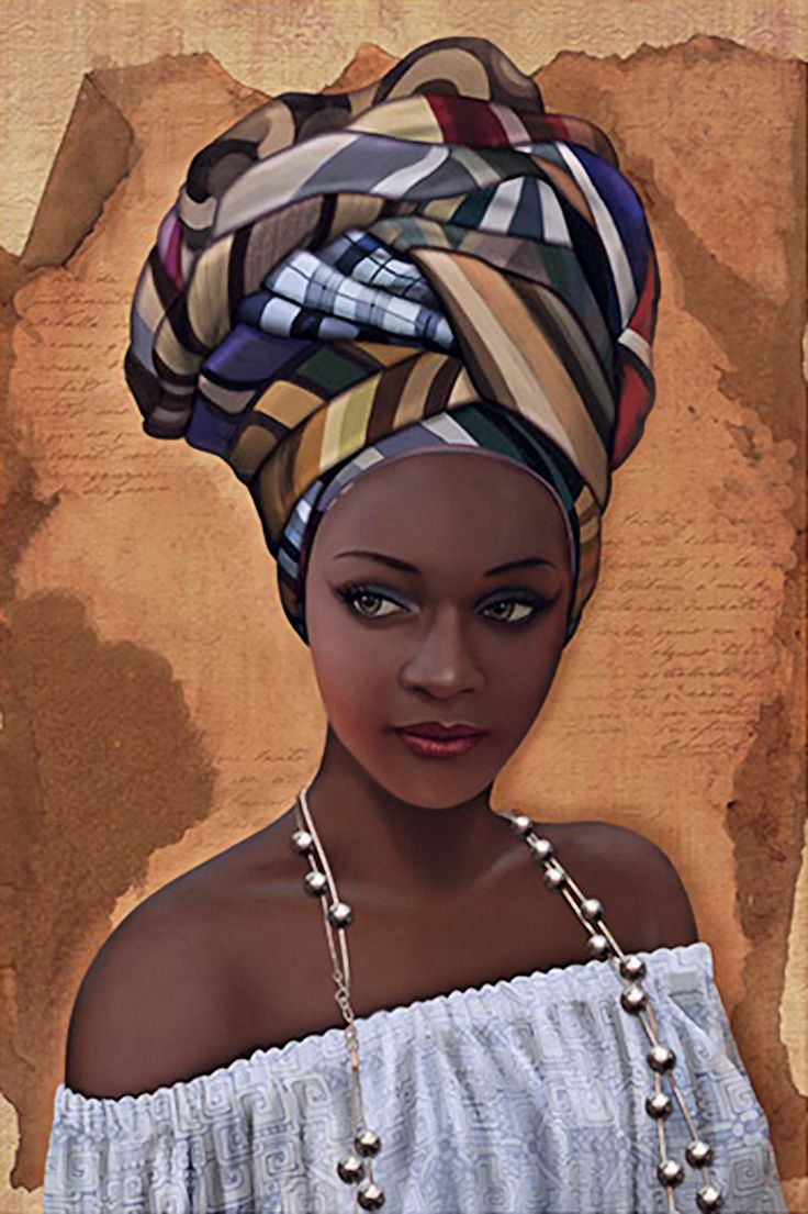 """African in White"" French Art {figurative beautiful"