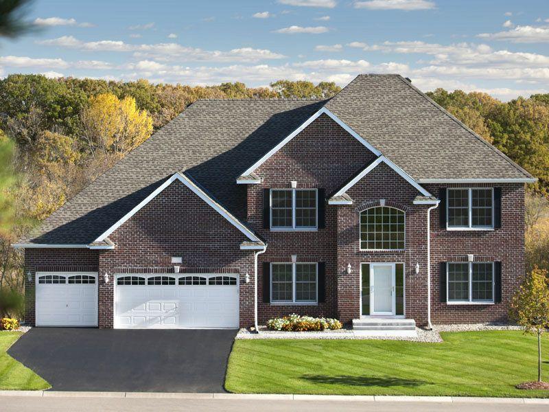 Brick House With White Garage Door Google Search