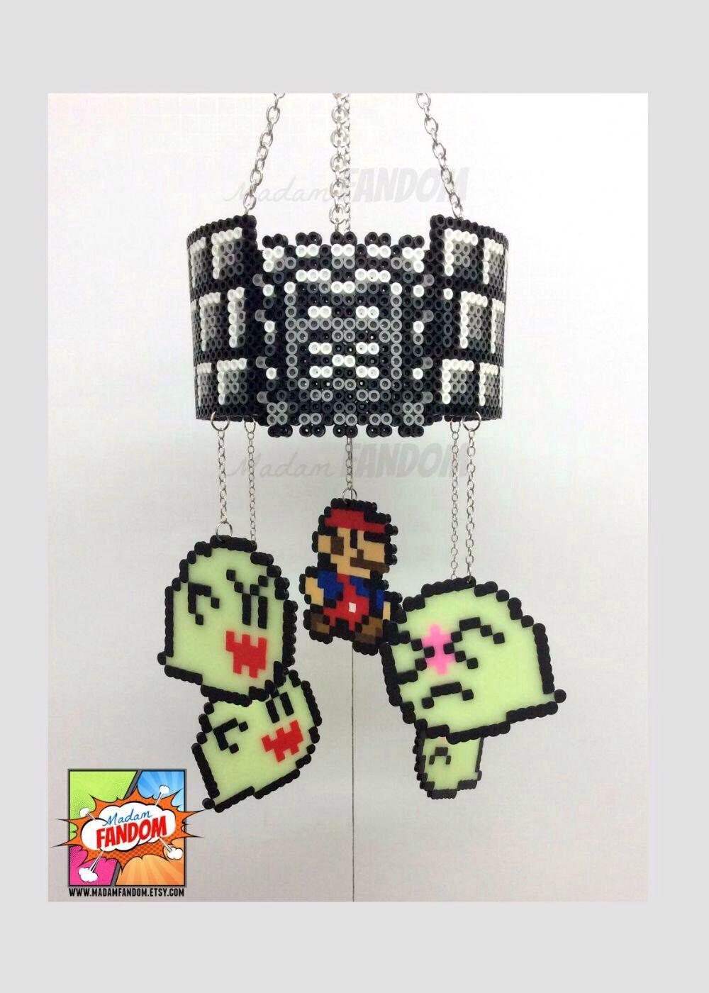 Perler beads Mario Bros and Boos