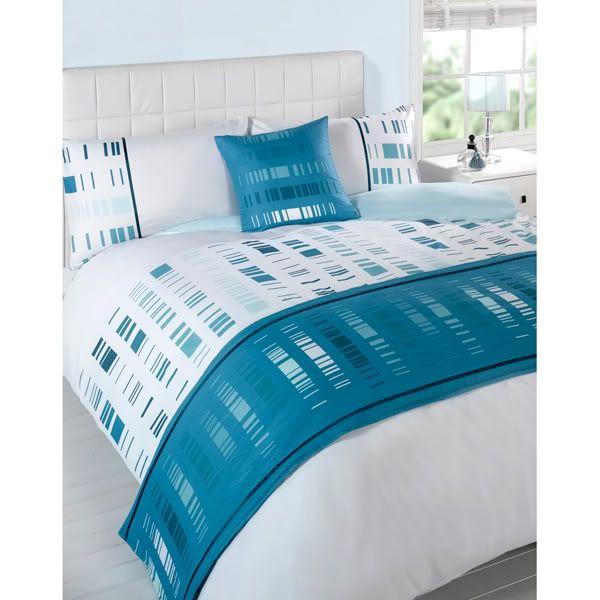 image detail for 5pc super king duvet cover set cushion bed runner ebay aqua and teal. Black Bedroom Furniture Sets. Home Design Ideas