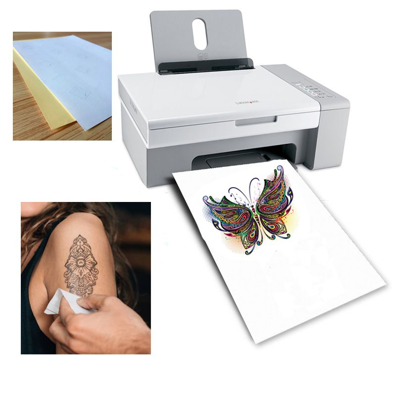 A4 tattoo paper diy yourself temporary tattoo paper use