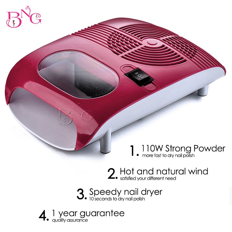 BnG Hot & Cold Air Nail Dryer Blower Manicure Beauty Red Color 220V ...