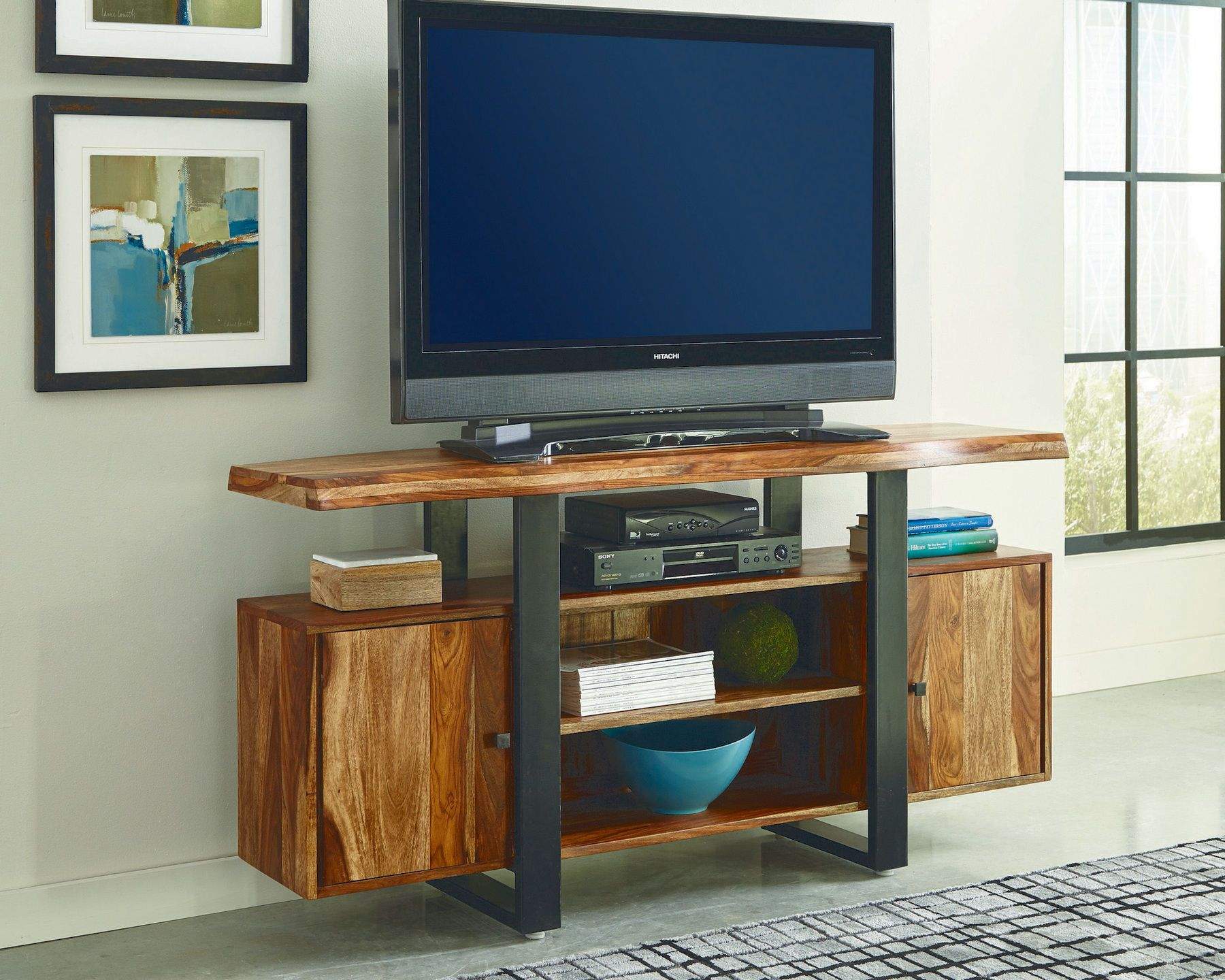 Knox Tv Stand 700890 Coaster Furniture Tv Stands Wooden Tv Stands Black Tv Console Wooden Tv Console