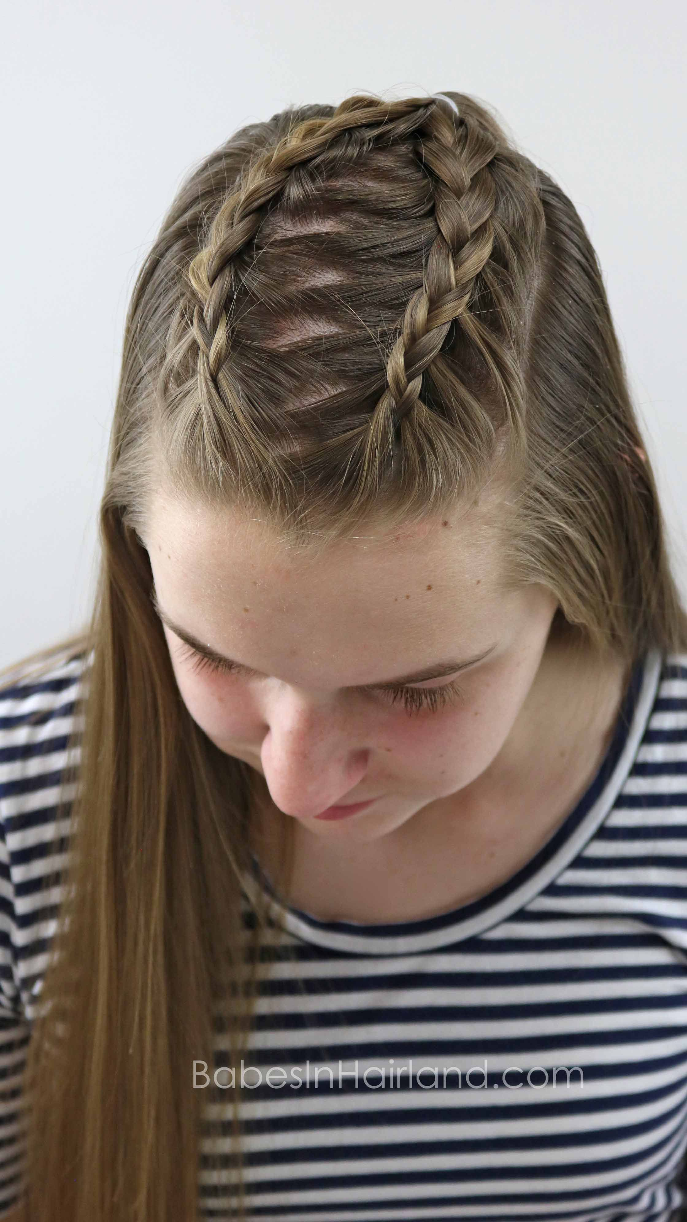 Start with basic dutch braids and create different cute and easy