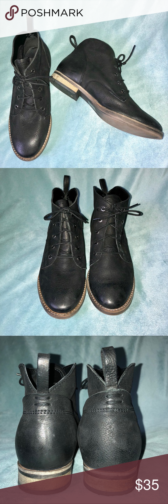 4fac9b22b0 Diba Eli Black Leather Lace-Up Ankle Bootie Boot Diba Eli Black Leather  Lace-Up Ankle Bootie Boot Women s Size 7.5 M Gently worn with normal wear  and tear.