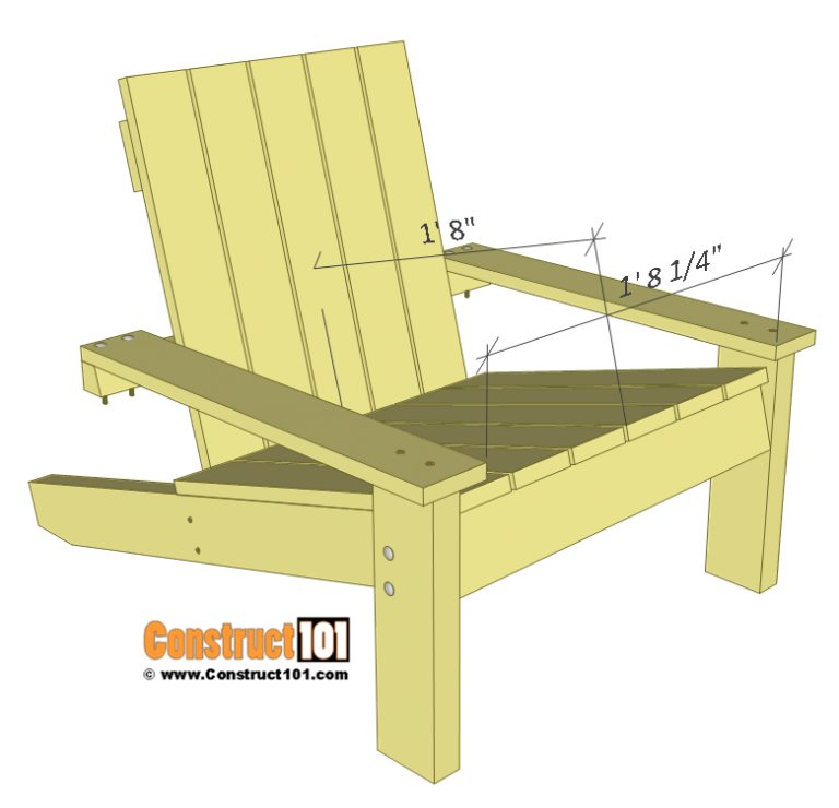 Simple Adirondack Chair Plans DIY StepByStep Project