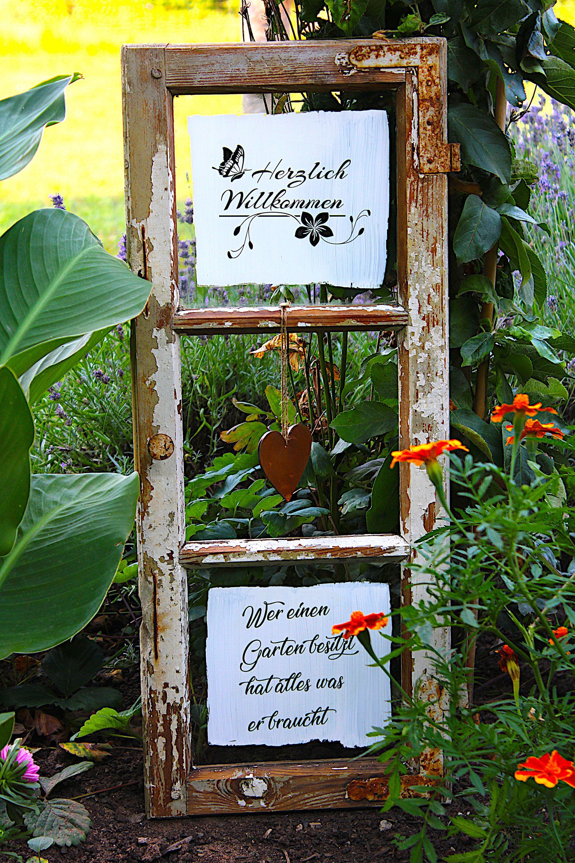 Ich Freue Mich Den Jungsten Neuzugang In Meinem Etsy Shop Vorzustellen Shabby Chic Gartendeko Vintage Fe Vintage Fenster Alte Fenster Diy Gartendekoration