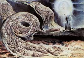 Il vortice degli amanti, William Blake, 1825. Penna e acquerello, 37,5x53 cm. Birmingham, Museum and Art Gallery