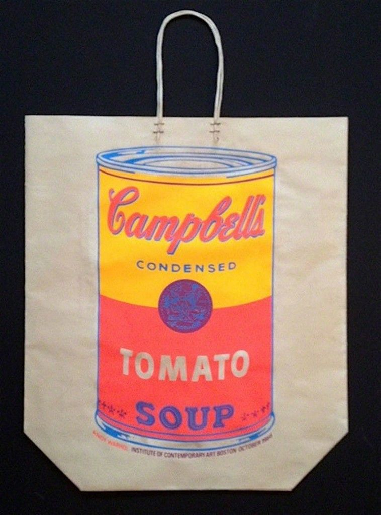 Campbell\'s Tomato Soup Can (Shopping Bag) | Andy Warhol, Campbell\'s ...