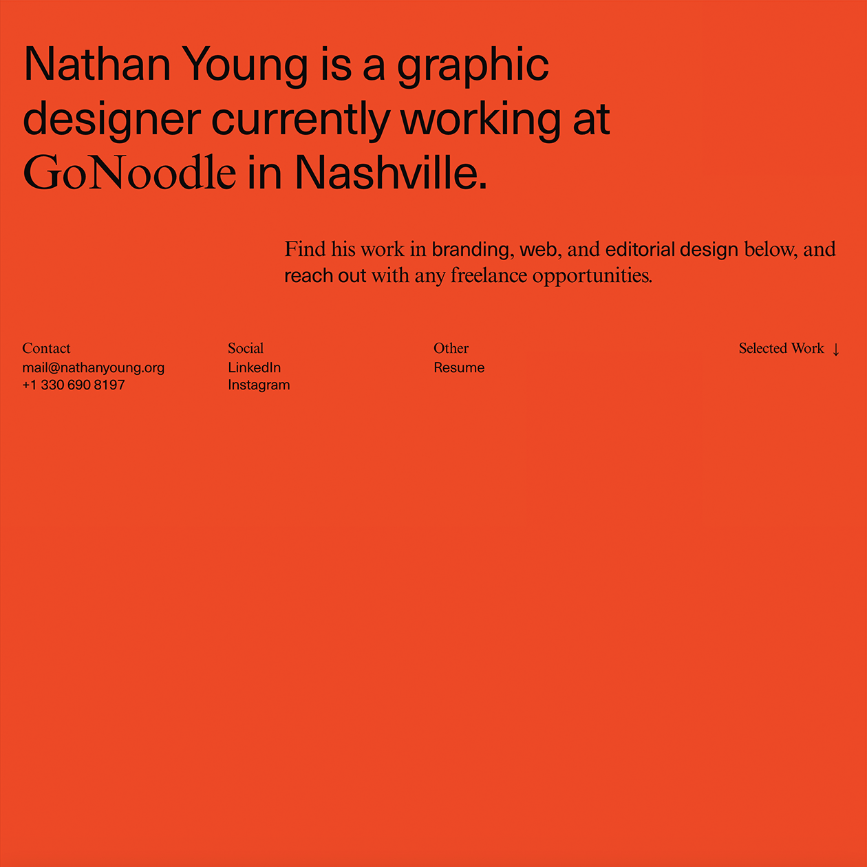 Nathan Young Typewolf In 2020 Web Design Design Graphic Design Typography